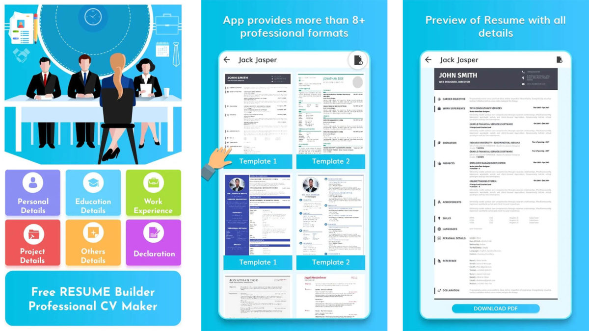 best resume builder apps for android authority free templates screenshot 1200x675 Resume Free Resume Templates For Android