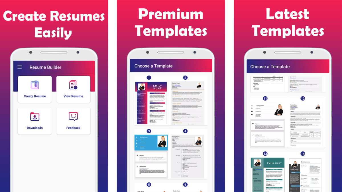 best resume builder apps for android authority free upload and edit cv maker screenshot Resume Free Resume Upload And Edit