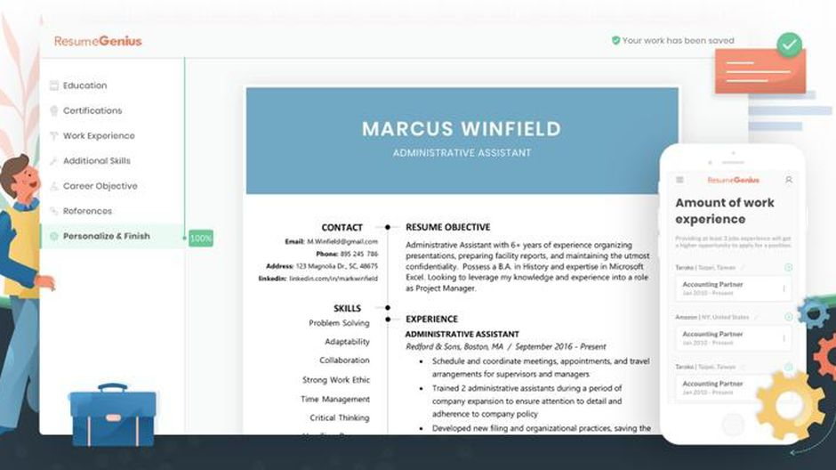 best resume builder of cnet with job descriptions screen shot at am corrections examples Resume Resume Builder With Job Descriptions