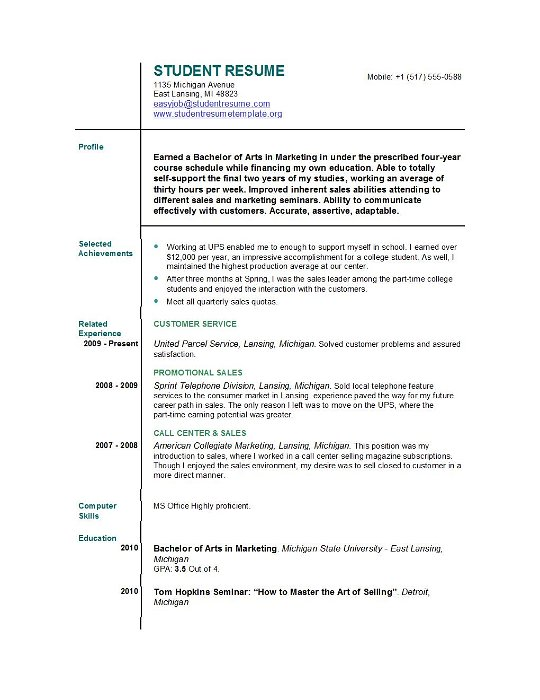 best resumes for first job gallery resume layout templates translate into spanish special Resume First Job Resume Layout