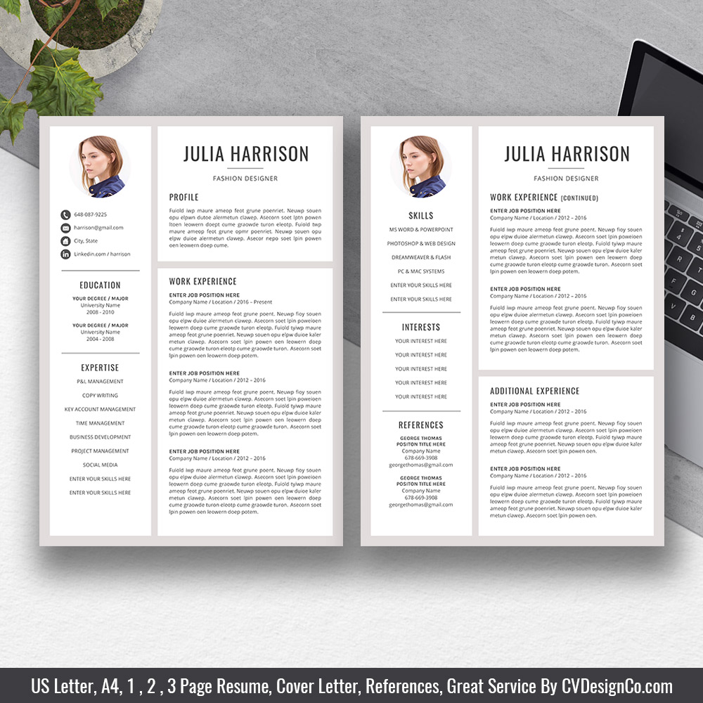 best selling office word resume for job application cover letter references digital Resume Best Resume In 2020
