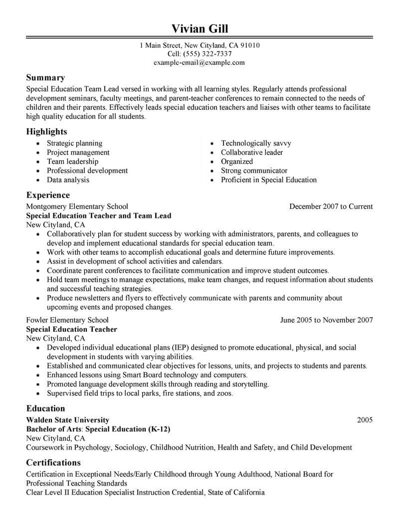 best team lead resume example livecareer examples for leader education modern artist Resume Resume Examples For Team Leader