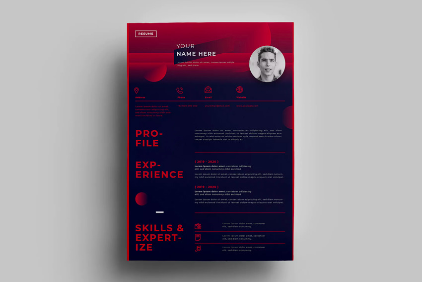 best web graphic designer resume cv templates examples for creative design on envato Resume Creative Resume Design For Graphic Designer