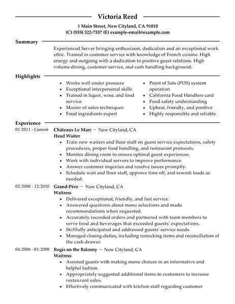 big server example modern design restaurant resume examples and bartender oracle hrms Resume Server And Bartender Resume