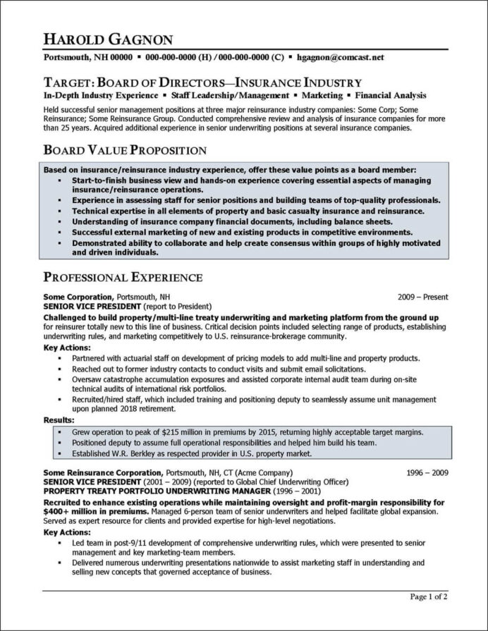 board of directors resume example distinctive career services for director position Resume Resume For Director Position