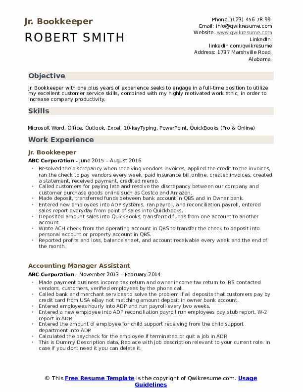 bookkeeper resume samples qwikresume sample pdf anagram student objective on terms for Resume Bookkeeper Resume Sample Pdf