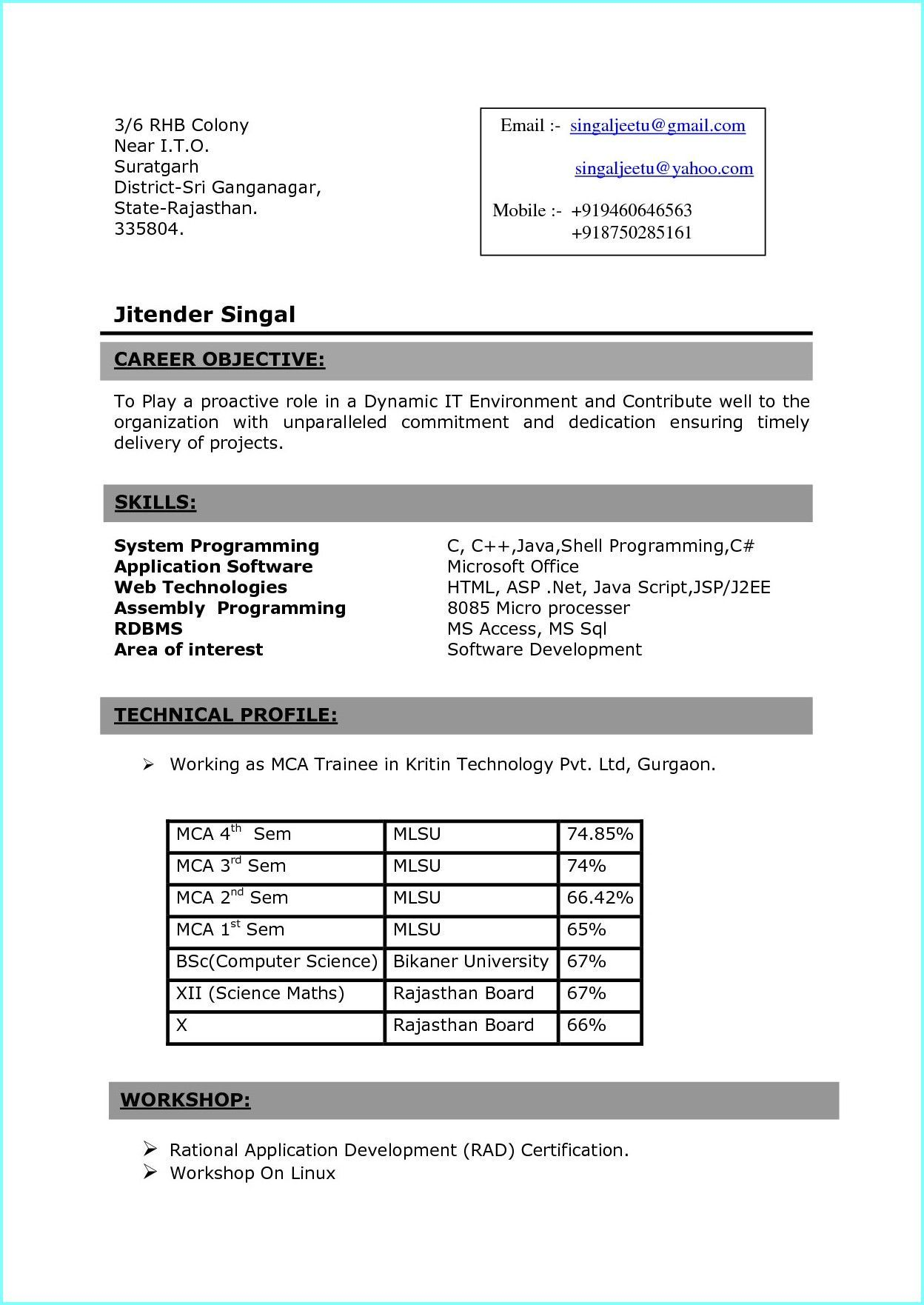 bsc nursing resume format for freshers examples in word students reverse logistics Resume Resume Format For Bsc Students