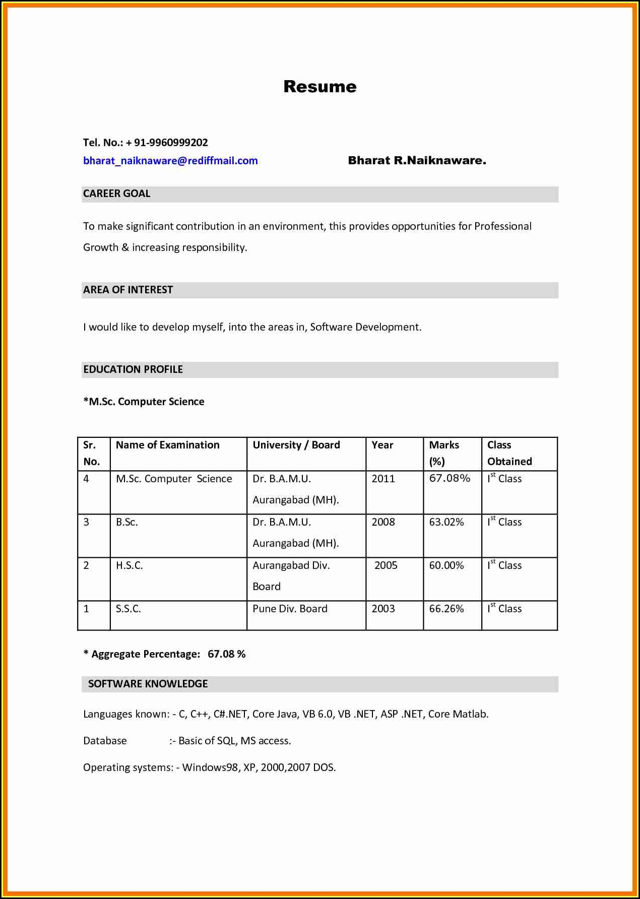 bsc resume format pdf best examples for students nursing experienced free sample cover Resume Resume Format For Bsc Students