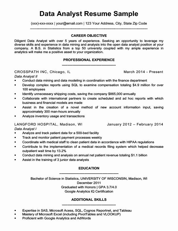 business data analyst resume unique examples best format for sample handyman position Resume Best Resume Format For Data Analyst