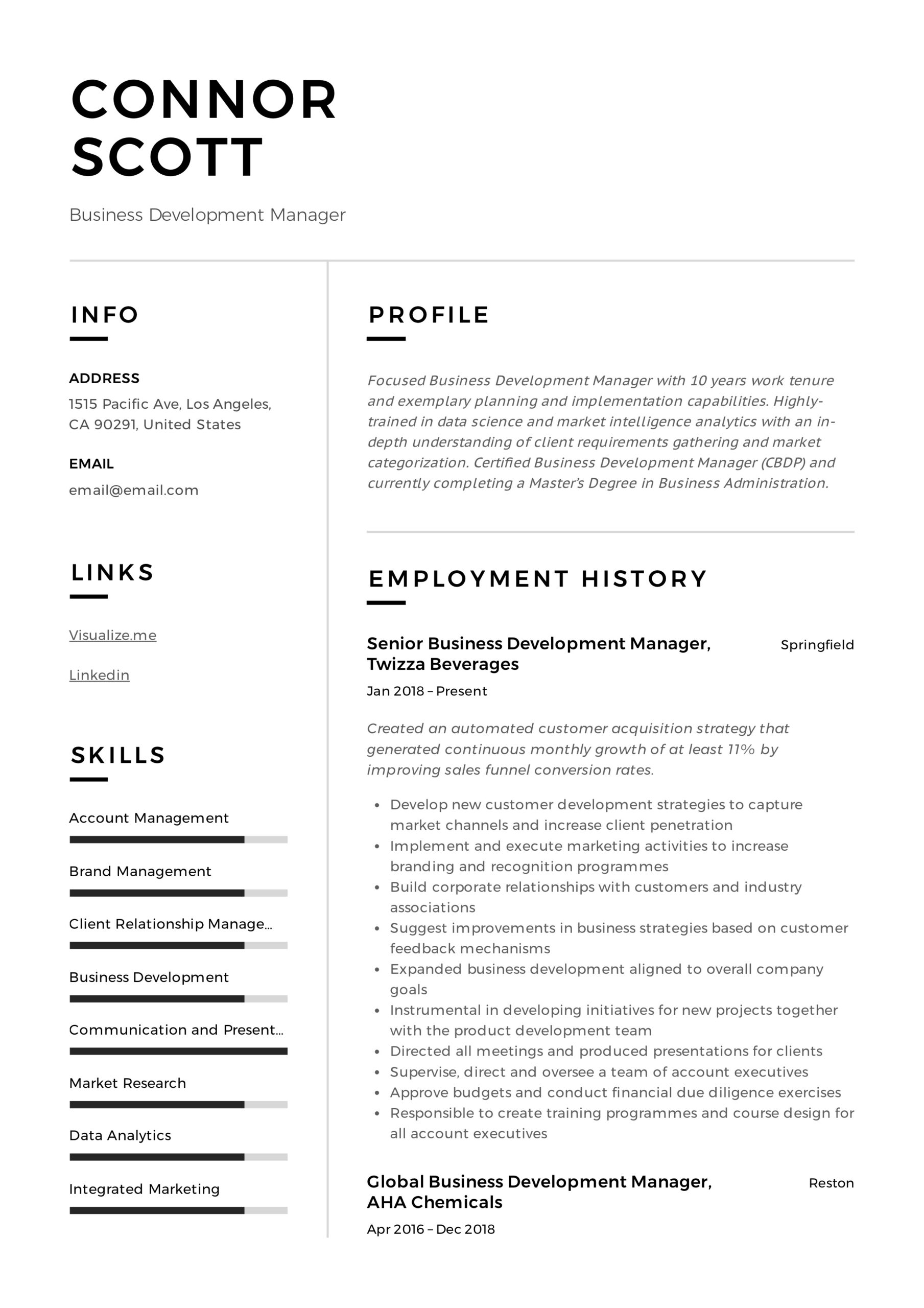 business development manager resume guide templates pdf salesforce project ecommerce Resume Salesforce Project Manager Resume