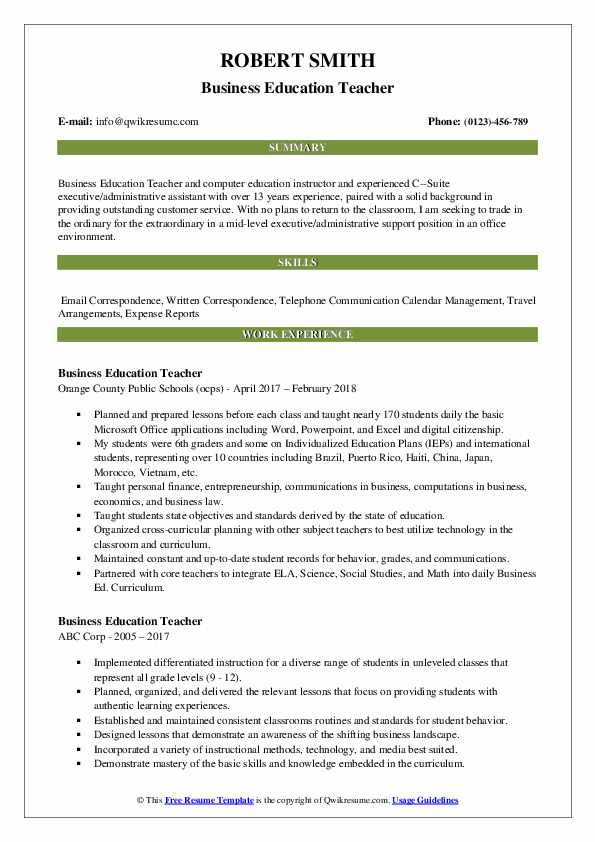 business education teacher resume samples qwikresume with no experience pdf certified Resume Teacher Resume With No Experience