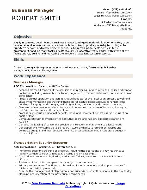business manager resume samples qwikresume sample format pdf ziprecruiter skills for your Resume Sample Business Resume Format