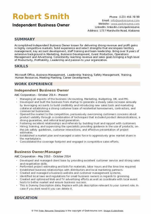 business owner resume samples qwikresume entrepreneur examples pdf cctv technician word Resume Entrepreneur Resume Examples