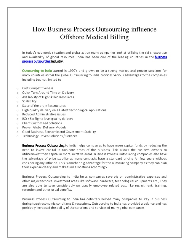 business process outsourcing services bpo offshore medical billi resume billing Resume Business Process Outsourcing Resume