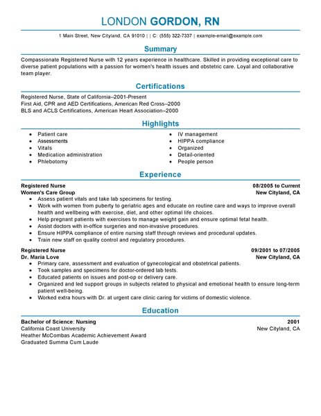 by sample new nurse resume format of registered daycare teacher business analyst payments Resume Sample Of A Registered Nurse Resume