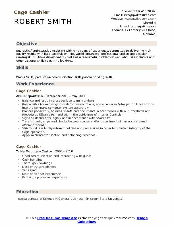 cage cashier resume samples qwikresume duties for pdf tips security guard summary Resume Duties For Cashier Resume