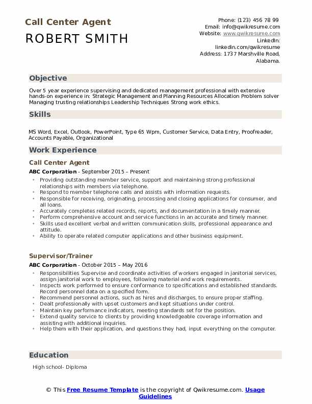 call center agent resume samples qwikresume template for pdf accounting clerk sample Resume Resume Template For Call Center Agent