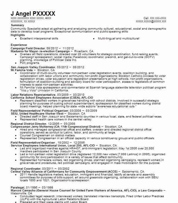 campaign field director resume example resumes livecareer political organizer executive Resume Political Organizer Resume