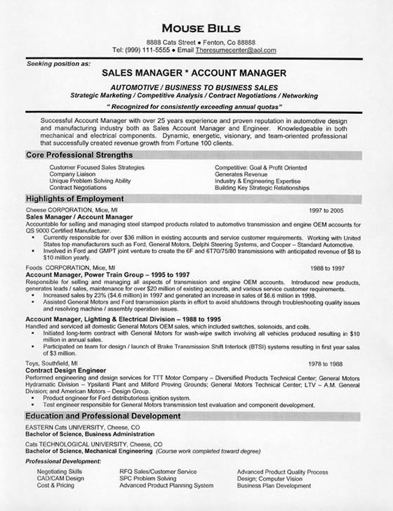 car resume example auto consultant sample sales4 for manufacturing company commercial Resume Auto Sales Consultant Resume