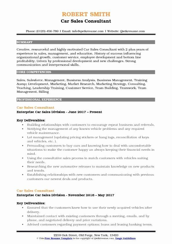 car resume sample new consultant samples project manager pdf auto bpo objective examples Resume Auto Sales Consultant Resume