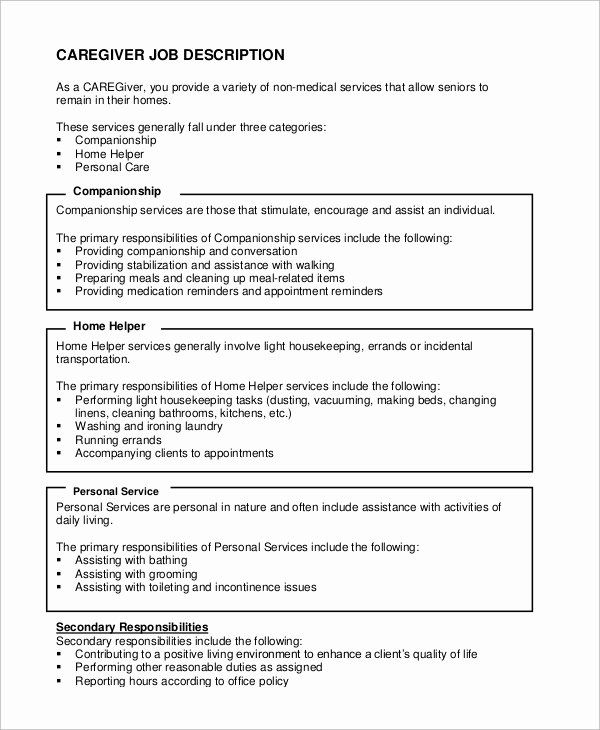 caregiver job description resume awesome sample examples in word pdf jobs teacher duties Resume Caregiver Duties And Responsibilities Resume