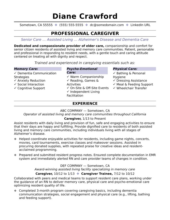 caregiver resume sample monster in home salon stylist operations manager summary Resume In Home Caregiver Resume