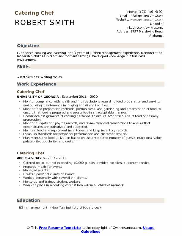 catering chef resume samples qwikresume for position pdf ecu template combination cyber Resume Resume For Chef Position