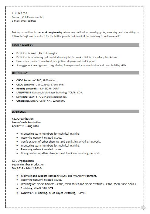 ccna resume samples top templates in network engineer sample writter technology writer Resume Ccna Network Engineer Resume Sample