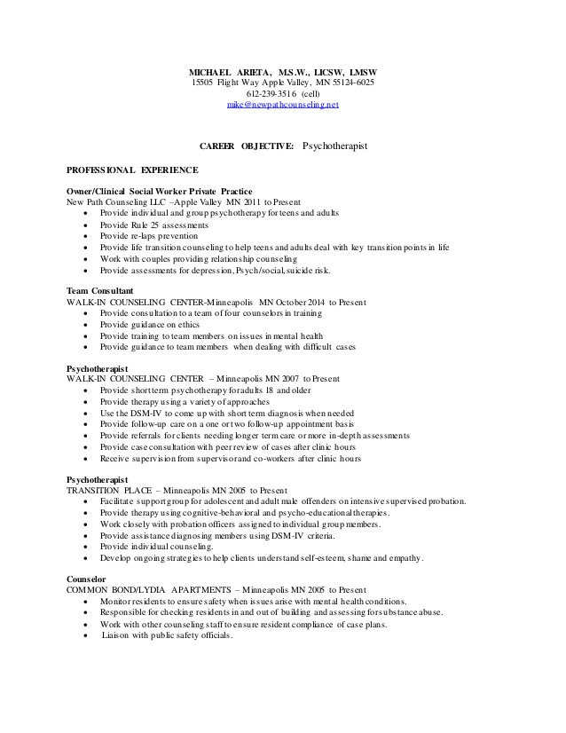 center school based therapist resume mental health hs relevant interests for telephony Resume Mental Health Therapist Resume