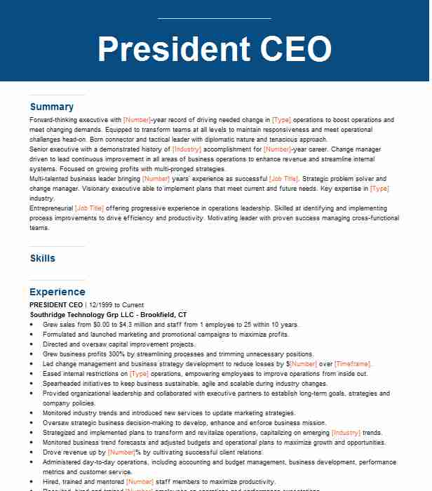 ceo and president resume example nicola construction company redford best design junior Resume Construction President Resume