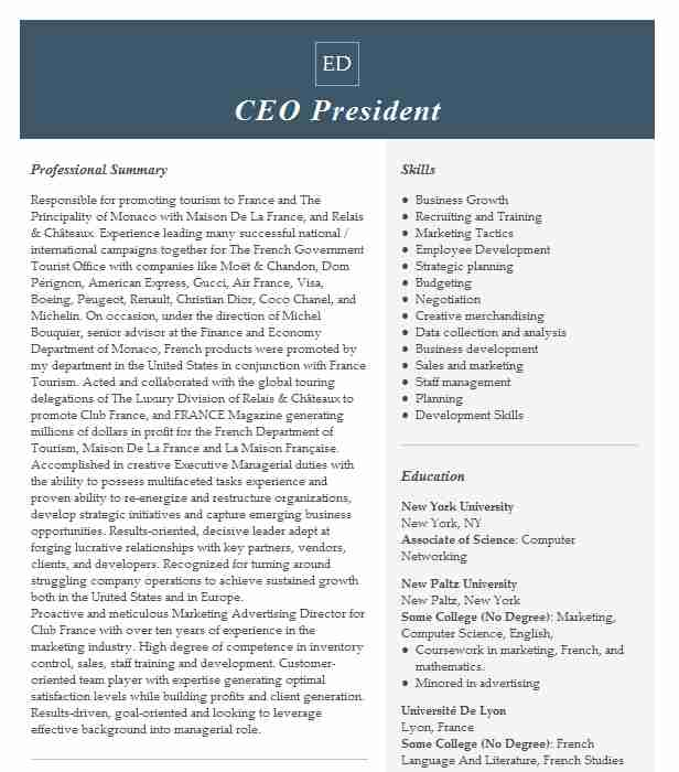ceo and president resume example nicola construction company redford functional template Resume Construction President Resume