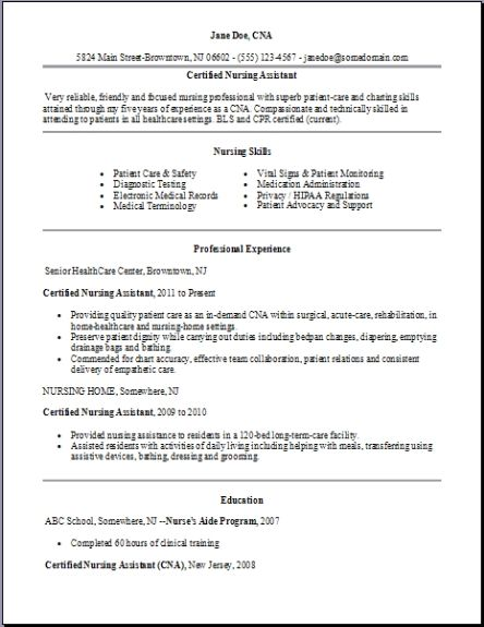 certified nursing assistant resume examples samples free edit with word template resume2 Resume Certified Nursing Assistant Resume Template