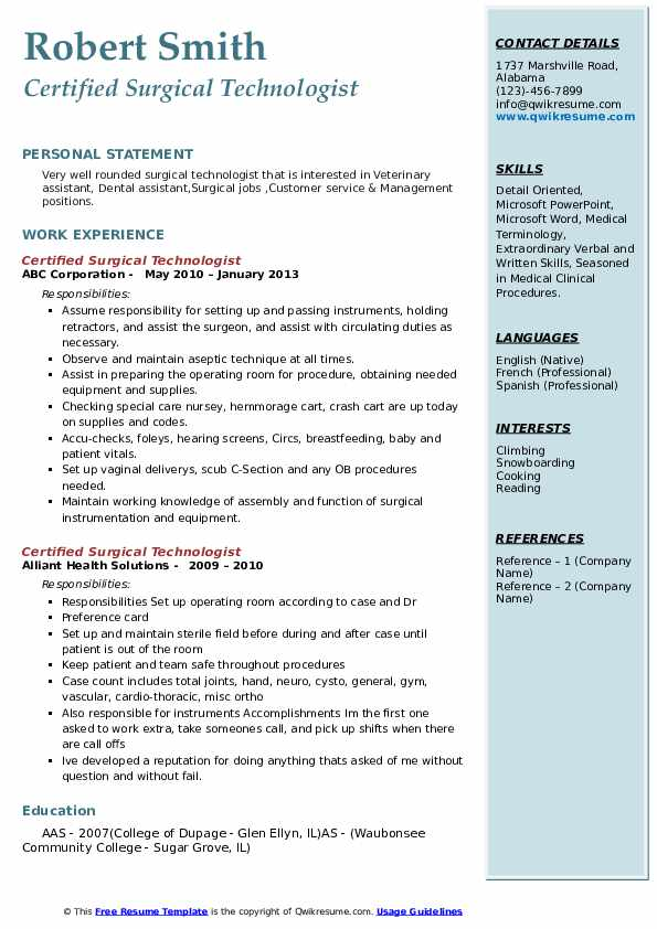 certified surgical technologist resume samples qwikresume tech student pdf medical school Resume Surgical Tech Student Resume