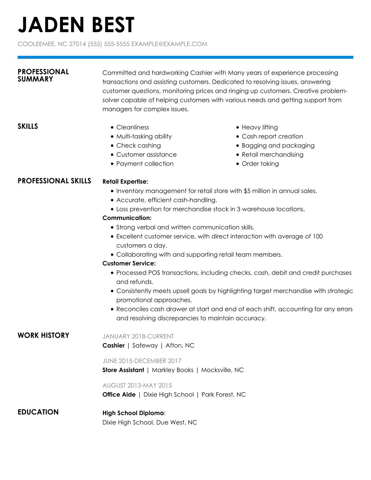 check out the top retail resume examples by myperfectresume for jobs cashier free truck Resume Resume Examples For Retail Jobs