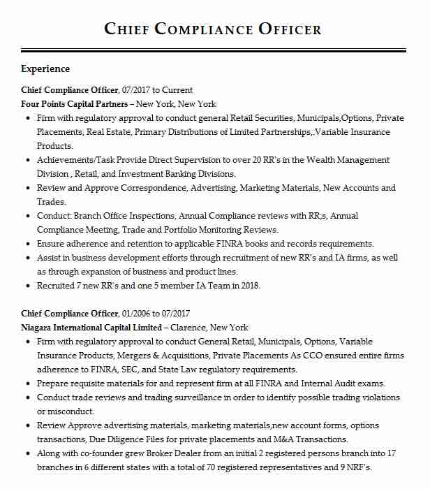 chief compliance officer resume example capital management ccm louisville template Resume Compliance Officer Resume Template