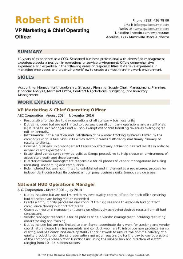 chief operating officer resume samples qwikresume pdf science research builder companion Resume Chief Operating Officer Resume