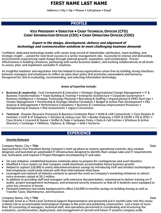 chief operations officer resume sample template vice president of ex vp director Resume Vice President Of Operations Resume