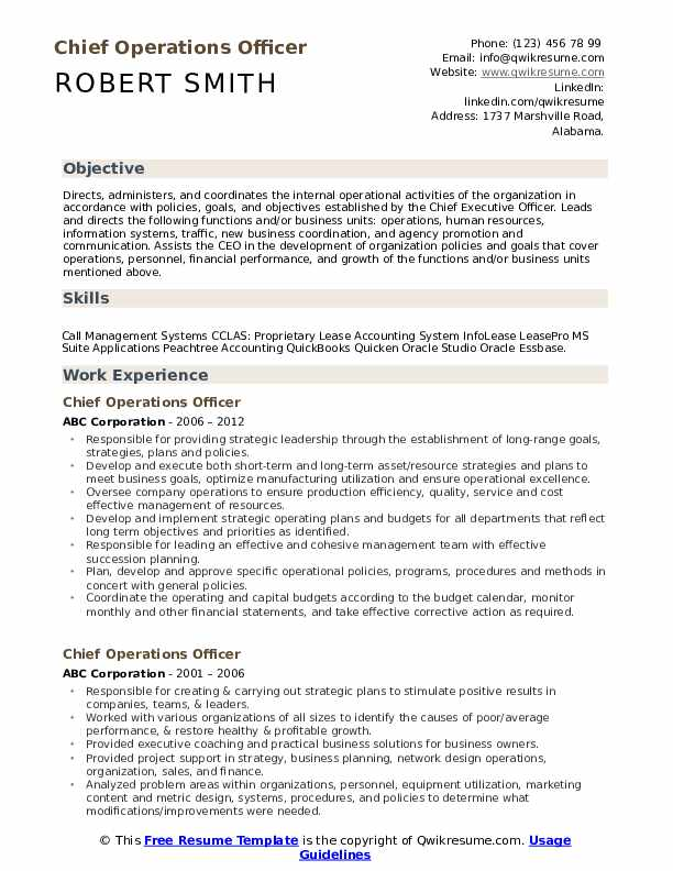 chief operations officer resume samples qwikresume operating pdf free creative templates Resume Chief Operating Officer Resume