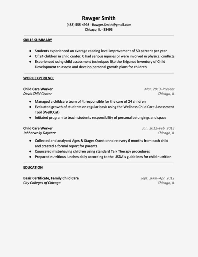 child care resume bamba sample templates daycare teacher aides examples for childcare Resume Child Care Resume Sample