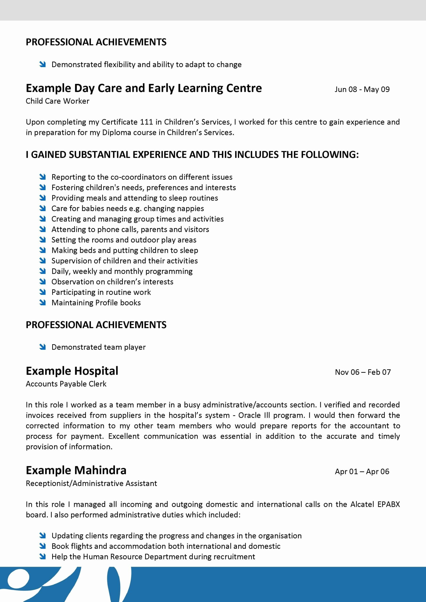 child care resume duties best of sample for teacher examples job samples daycare worker Resume Daycare Worker Resume
