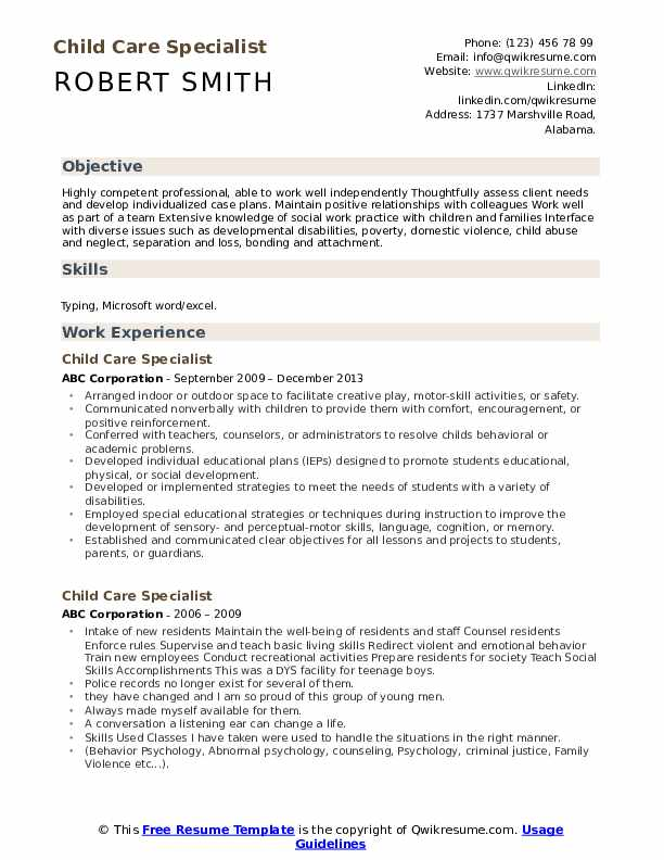 child care specialist resume samples qwikresume model template pdf career objective for Resume Child Model Resume Template