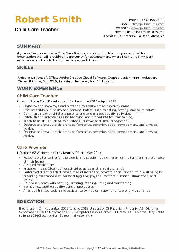 child care teacher resume samples qwikresume examples pdf sample format word file Resume Child Care Resume Examples