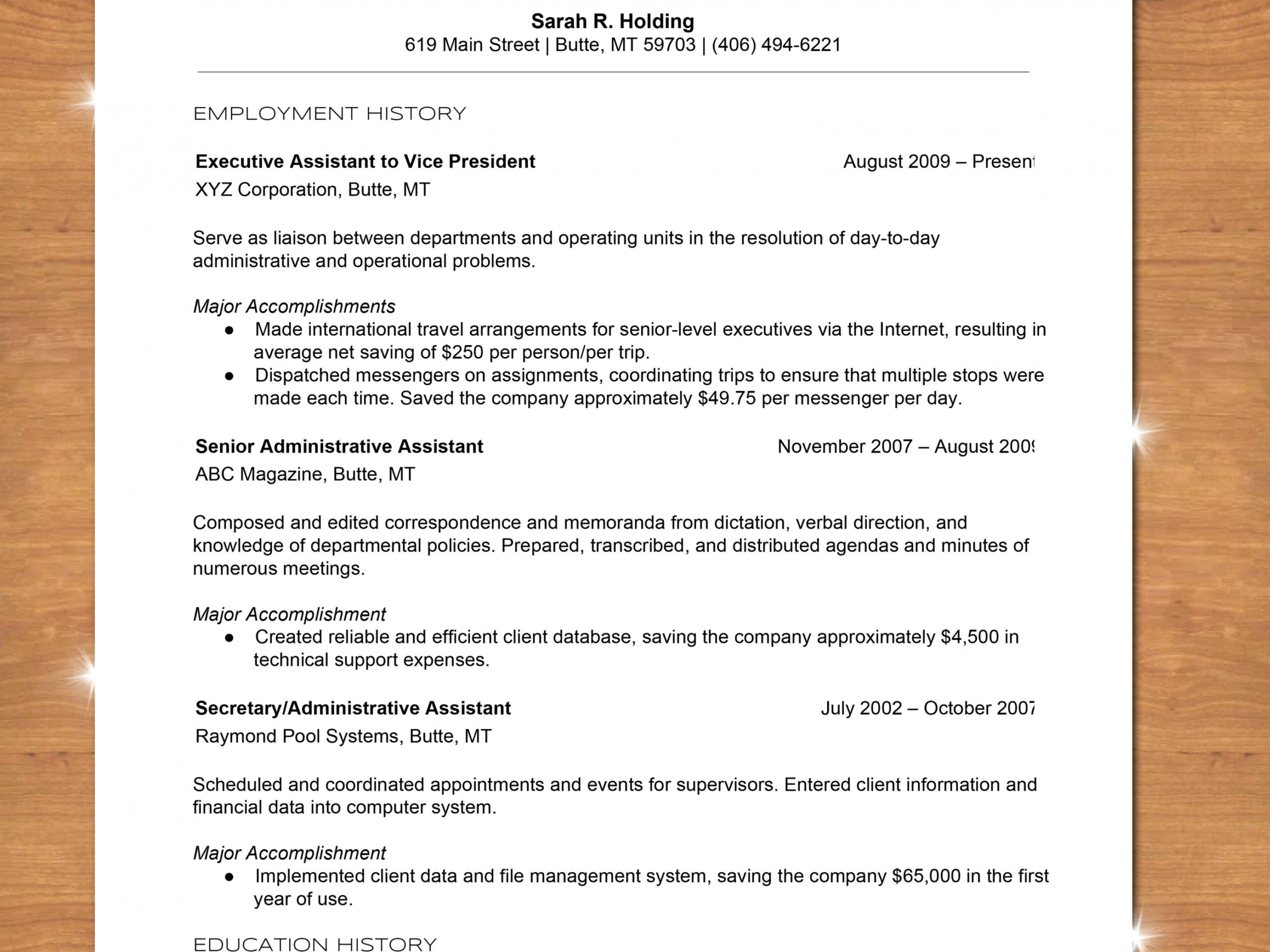 chronological order of education on resume template builder example to write with sample Resume Order Of Education On Resume