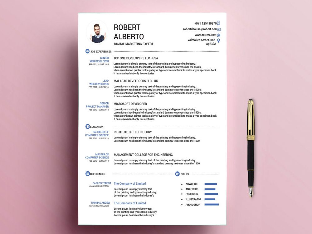 classic resume template free with formats resumekraft forms to print 1000x750 related Resume Free Resume Forms To Print
