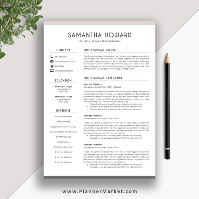 clean resume template for simple cv word cover letter modern and professional the Resume Best Resume In 2020