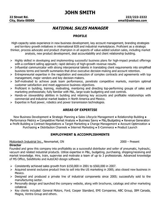 click here to this national manager resume template http resumetem examples business Resume Building A Sales Resume