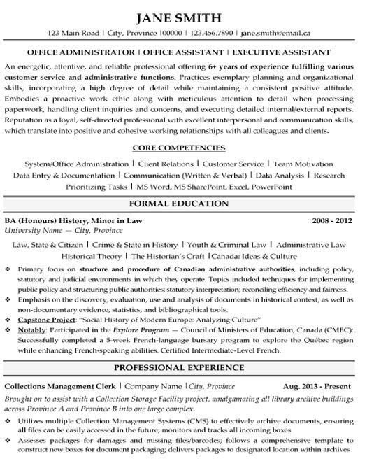 click here to this office administrator resume template http resumetemplates101 examples Resume Office Manager Resume Template