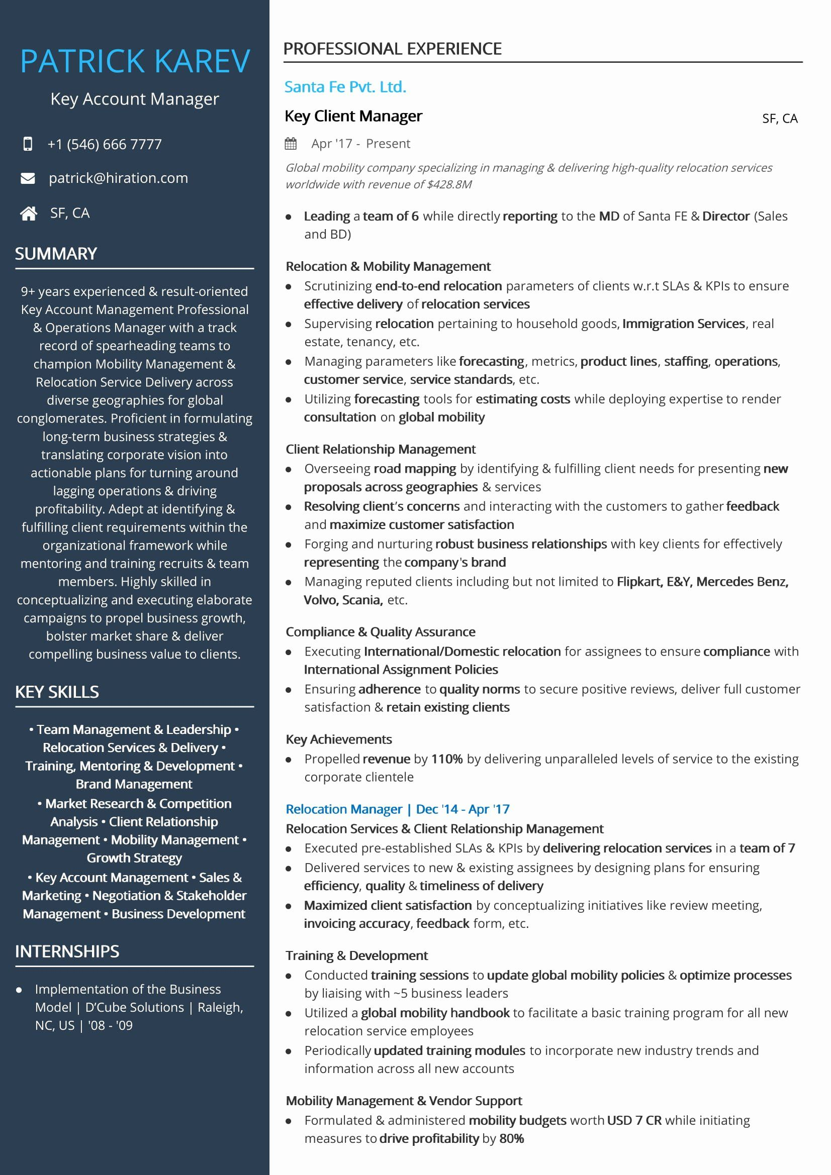 client relationship manager resume awesome operations examples and samples job accounting Resume Account Manager Resume Example