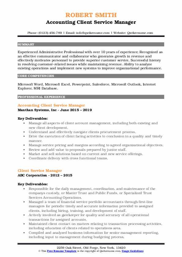client service manager resume samples qwikresume customer facing experience pdf Resume Customer Facing Experience Resume