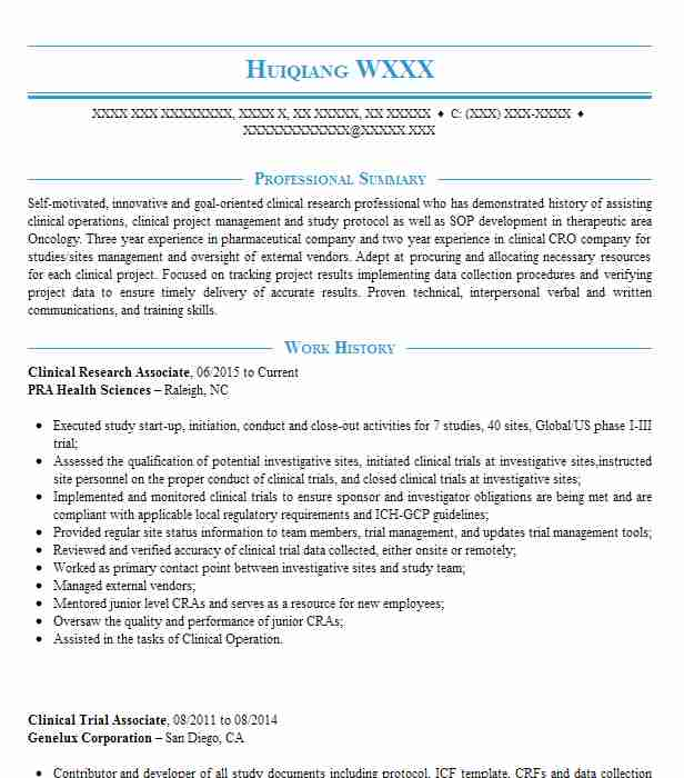 clinical research associate cv template best resume examples entry level respiratory Resume Clinical Research Associate Resume